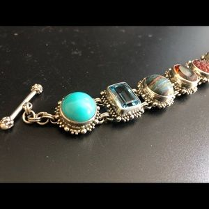 STEPHEN DWECK silver/multi stone bracelet